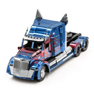 Transformers Optimus Prime Wester Star 5700 Truck Iconx Premium Series 3D Laser Cut Metal Earth Puzzle by Fascinations
