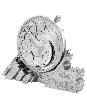 Game of Thrones Targaryen Sigil Iconx Premium Series 3D Laser Cut Metal Earth Puzzle by Fascinations