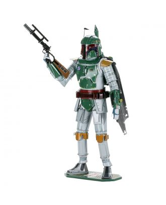 Star Wars Boba Fett Iconx Premium Series 3D Laser Cut Metal Earth Puzzle by Fascinations