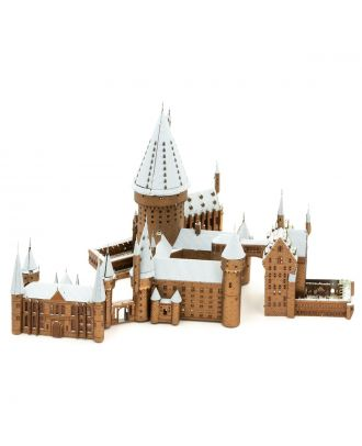 Harry Potter Hogwarts In Snow Iconx Premium Series 3D Laser Cut Metal Earth Puzzle by Fascinations