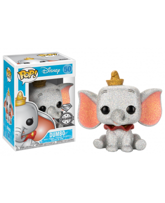 POP Disney: Dumbo (DGLT) Funko POP! Vinyl Figure Exclusive Diamond Collection #50