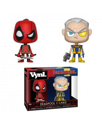"""VYNL 4"""" 2-Pack: Marvel: Deadpool and Cable Funko"""
