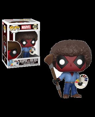 POP! Bobble: Marvel: Deadpool Playtime: Deadpool Bob Ross Funko POP Vinyl Bobble Head Figure #319
