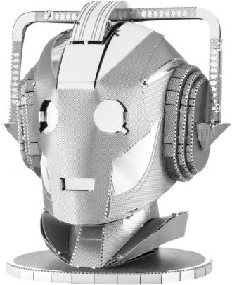 Doctor Who Cyberman Head Metal Earth 3D Laser Cut Metal Puzzle by Fascinations