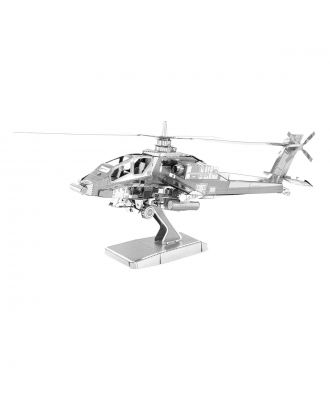 Classics Apache Helicopter Metal Earth 3D Laser Cut Metal Puzzle by Fascinations