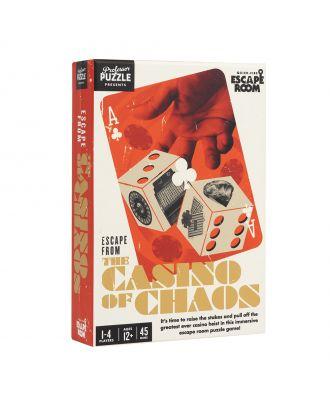 Escape from the Casino of Chaos Professor Puzzle escape Room Game Board Game