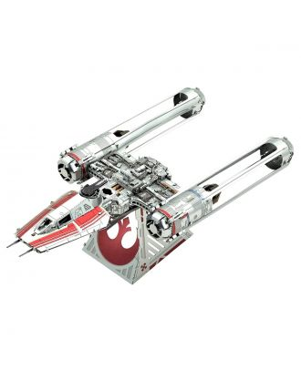 Star Wars Zorii's Y-Wing Fighter Metal Earth 3D Laser Cut Metal Puzzle by Fascinations