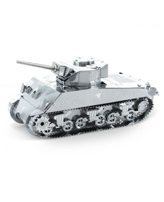 Classics Sherman Tank Metal Earth 3D Laser Cut Metal Puzzle by Fascinations