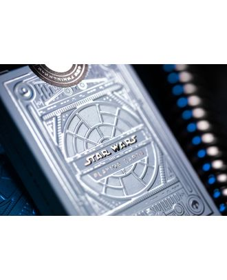 Star Wars Playing Cards White Light Side Silver Special Edition by Theory 11 Offically Licenced